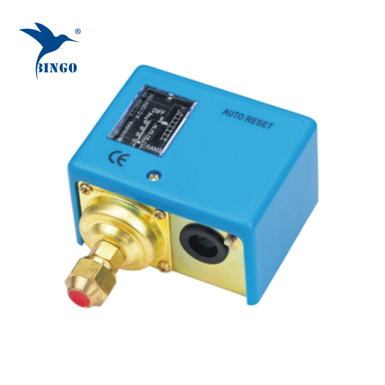 Adjustable pressure switch for refrigeration water oil gas