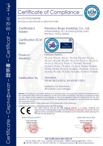 CE for Pressure switch