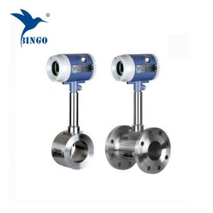 High temperature gas vortex shedding flow meter