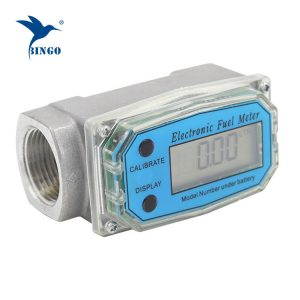 Turbine water flow meter for oil, diesel or petrol