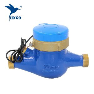 brass body Pulse Water flow meter pulse sensor (1)